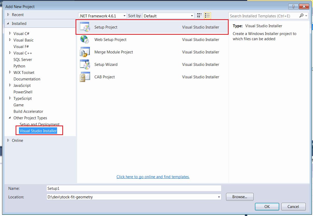 Creating the Visual Studio Installer (VSI) for SOLIDWORKS application