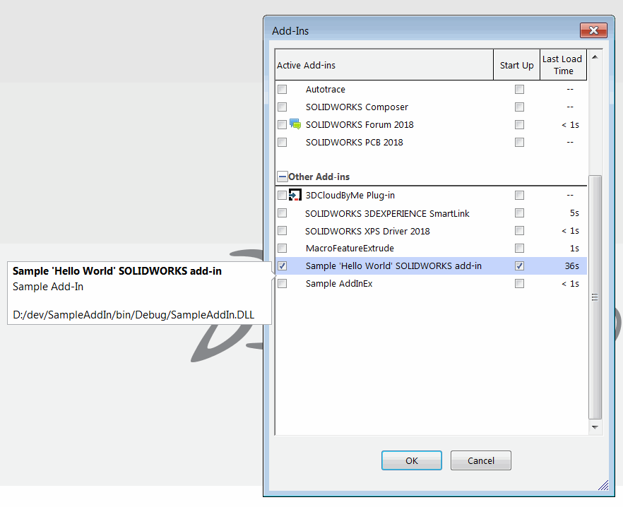How to develop add-ins for SOLIDWORKS automation via API