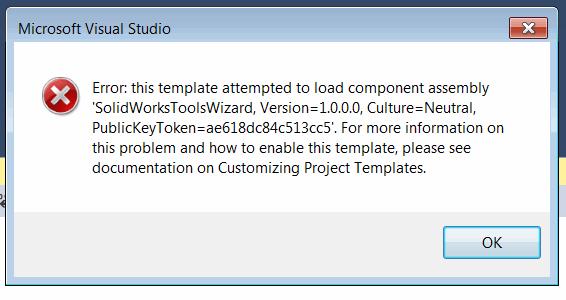 Fix missing Visual Studio SOLIDWORKS API SDK project templates