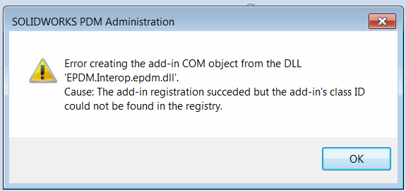 Class ID could not be fond in the registry