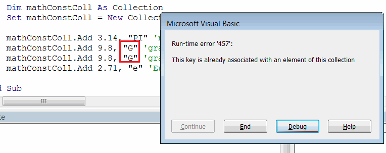 Managing Collections in Visual Basic